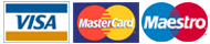 We accept Visa, Mastercard & Maestro